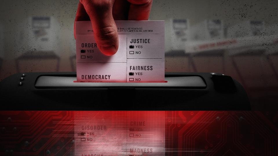 Dokument Smrtící řetězec: Americké volby v kyberválce