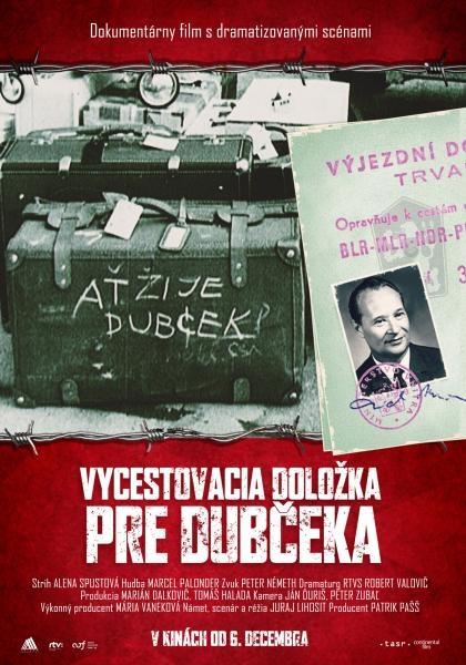 Dokument Výjezdní doložka pro Dubčeka