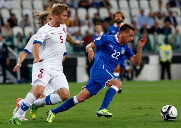 Fotbal: Itálie - Česko