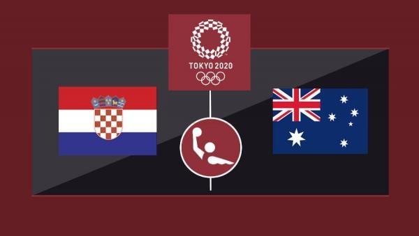 OI Tokio 2020: Vaterpolo - skupina 2.kolo: Hrvatska - Australija