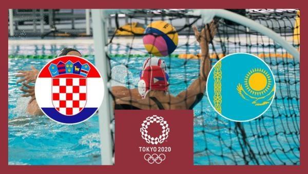 OI Tokio 2020: Vaterpolo - skupina 1. kolo: Hrvatska - Kazahstan