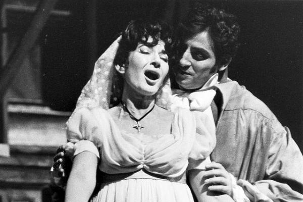 Maria Callas v roli Tosky